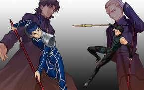 Picture Lancer, servants, spearmen, master, Fate stay night, The fate of the beginning, Fate / Stay …