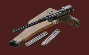 Picture Germany, Self-loading pistol, Georg Johann Luger, Luger Artillery, Luger Lange Pistole 08