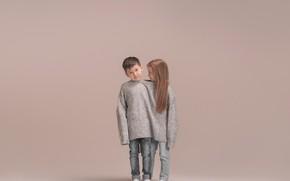 Picture boy, girl, sweater, Ruslan Iinew