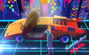 Picture Music, Lamborghini, Neon, Background, 80s, Neon, Countach, Lamborghini Countach, 80's, Synth, LP400, Retrowave, Synthwave, New …