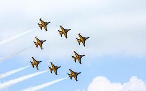 Picture Fighter, Aerobatic team, Air force Republic of Korea, Formation, KAI T-50B Golden Eagle, KAI T-50B, …
