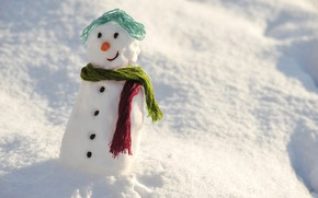 Picture winter, snow, snowman, happy, winter, snow, day, snowman