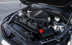 Picture grey, engine, Cadillac, sedan, four-door, 2020, CT5