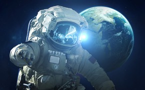 Picture The suit, Space, Earth, Astronaut, Astronaut, Earth, Mission, Science Fiction, Astronaut, Cosmonaut, Visual Effects, SCI-FI, …