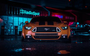 Picture Mustang, Ford, Auto, White, Machine, Style, Car, NFS, Art, Style, Ford Mustang RTR, Need For …