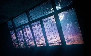 Picture light, room, window, broken, by K&P