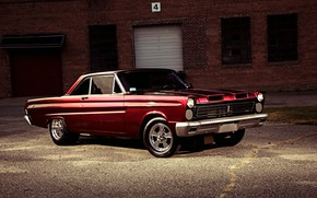 Picture Red, Muscle Car, Mercury, Comet Cyclone
