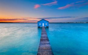 Picture pier, Australia, pierce, boathouse, Perth, Matilda Bay