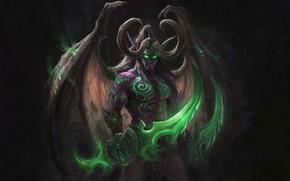 Picture The game, Illidan, The demon, WOW, Stormrage, Warcraft, Blizzard, Art, Night Elf, World of WarCraft, …