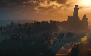 Picture Minimalism, screenshot, Landscape, the Witcher, The Witcher, Widescreen, The Witcher 3: Wild Hunt, The Witcher …