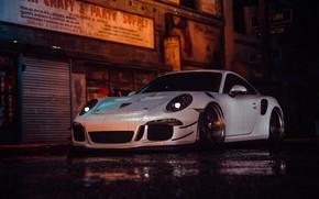 Picture Auto, White, Porsche, Machine, Style, Car, NFS, Art, Porsche 911, Style, Porsche 911 GT3 RS, …