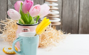 Picture flowers, bouquet, tulips, pink, decor, THE OFF