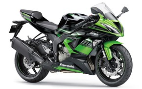 Picture green, motorcycle, bike, motorcycle, superbike, sportbike, white background, Kawasaki Ninja ZX-6