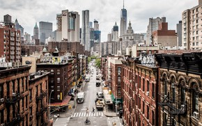 Picture street, New York, skyscrapers, USA, Manhattan