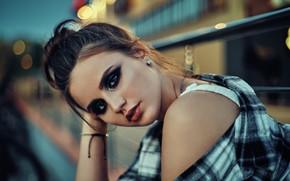 Picture look, girl, face, portrait, makeup, shoulder, Alina, Alexander Fancover