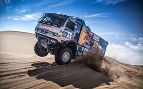 Picture Sand, Auto, Sport, Machine, Truck, Race, Master, Russia, Race, Russia, 300, Kamaz, Rally, KAMAZ-master, Rally, …