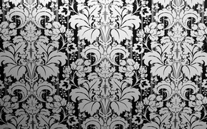 Wallpaper retro, pattern, texture, ornament, vintage