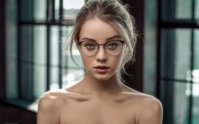 Wallpaper model, glasses, Maria, Falak Ali, bokeh, makeup, hairstyle, beauty, blonde, look, portrait