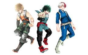 Picture blood, anime, art, guys, heroes, Boku no Hero Academy, My hero Academy