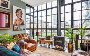 Picture design, style, interior, fireplace, living room, Hoxton house of wonderment