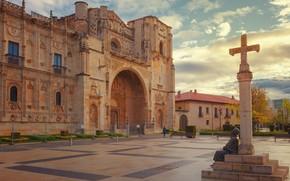 Picture the city, Leon, Spain, Spain, Castile and Leon, Lion, Castile and León, Площадь Сан-Маркос, Church …
