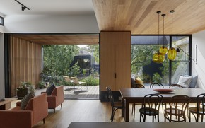 Picture interior, terrace, living room, dining room, Lucky house