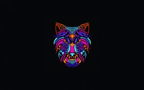 Picture Minimalism, Neon, Style, Background, Wolf, Art, Art, Abstract, Style, Color, Neon, Wolf, Background, Illustration, Minimalism, …