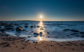 Picture sea, shore, morning