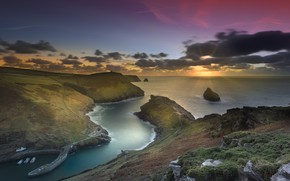 Picture coast, England, Cornwall, Boscastle Harbour