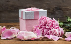 Picture gift, roses, bouquet, Holiday