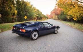 Picture BMW, on the road, BMW M1, dark blue, E26, M1