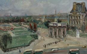 Picture picture, the urban landscape, Lucien Adrion, Lucien Adrion, Paris. The Louvre. The Area Sorbonne University