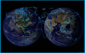 Picture earth, planet, map