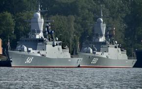 Picture corvettes, guarding, resistant, Baltijsk