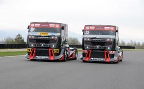Picture race, renault trucks, renault premium, truck racing