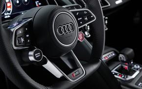 Picture Audi, the wheel, supercar, Audi R8, salon, Coupe, V10, 2020, RWD