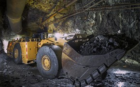 Picture the tunnel, breed, bucket, Caterpillar, loader, R1700G