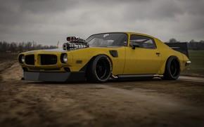 Picture Yellow, Machine, Art, Pontiac, Firebird, Rendering, Concept Art, Pontiac Firebird, Transport & Vehicles, Rostislav Prokop, …