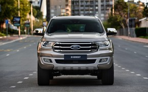 Picture street, Ford, front view, Everest, Limited, 4WD, 2019