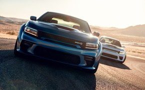 Picture Road, Speed, Bumper, The hood, Dodge, Lights, Charger, Hellcat, SRT, 2020, Dodge Charger SRT, Hellcat …