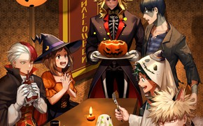 Picture feast, costumes, Halloween, My Hero Academia, Boku No Hero Academy, My Hero Academy