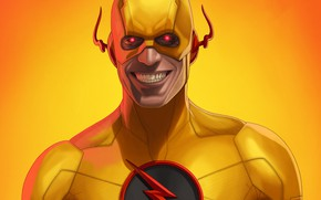 Picture smile, background, Reverse Flash