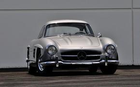 Picture Car, Classic, Mercedes - Benz, 1955, Silver