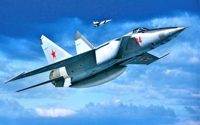 Picture THE SOVIET AIR FORCE, The MiG-25, Supersonic aircraft, Electronic reconnaissance aircraft, MiG-25РБТ, Tall