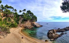 Picture sea, coast, Spain, Calonge