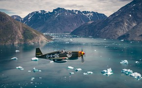 Picture Mustang, The ocean, Fighter, Iceberg, USAF, The Second World War, North American P-51 Mustang, P-51B …