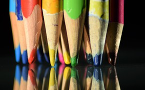 Picture macro, color, pencils