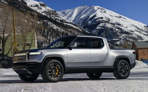 Picture mountain, top, pickup, 2019, R1T, Rivian
