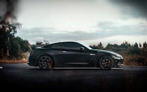 Picture Auto, Black, Machine, Nissan, Side view, Nissan GT-R 35, GT-R 35, Mikhail Sharov, Transport & …