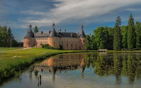 Picture France, Lake, Bourgogne, Saint Fargeau